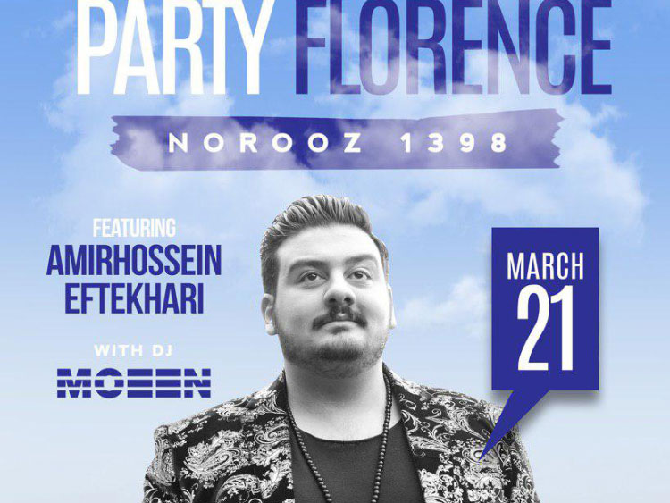 RJ Party in Florence featuring Amirhossein Eftekhari